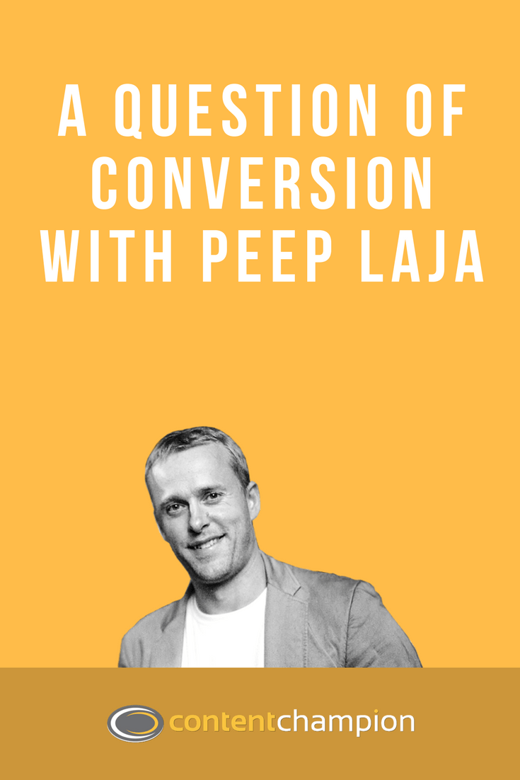 Peep Laja website conversion optimisation