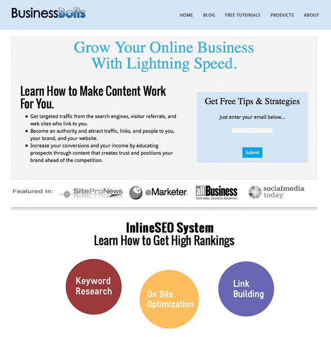 Business Bolts sustainable SEO