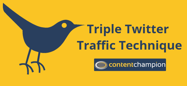 Triple Twitter Traffic Technique