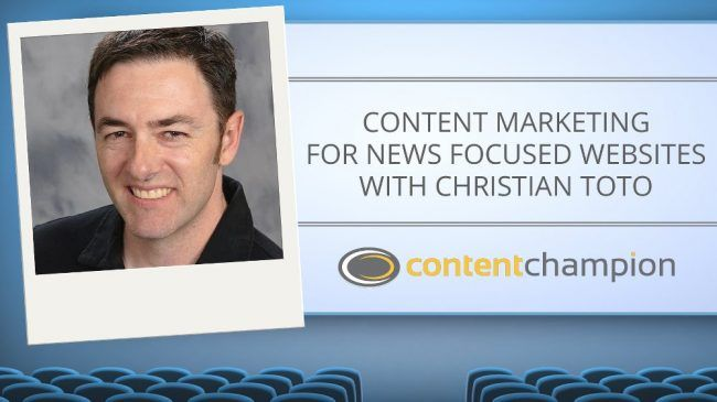 CC 063: Content Marketing For News Focused Websites With Christian Toto