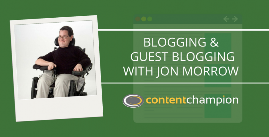 Jon Morrow guest blogging