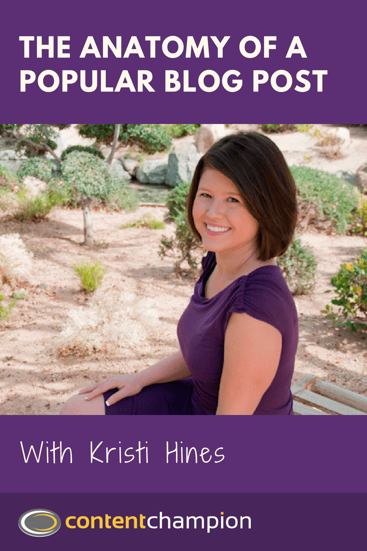How to write popular blog posts with Kristi Hines
