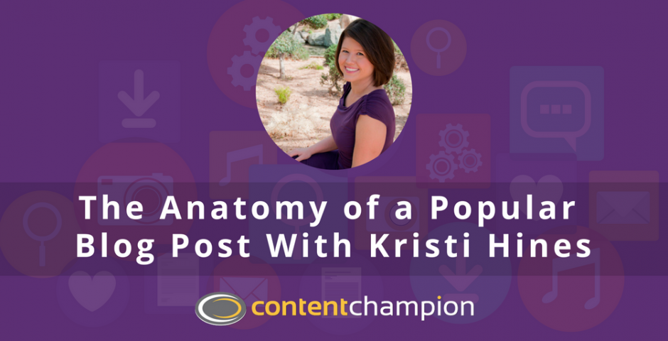 Kristi Hines popular blogging