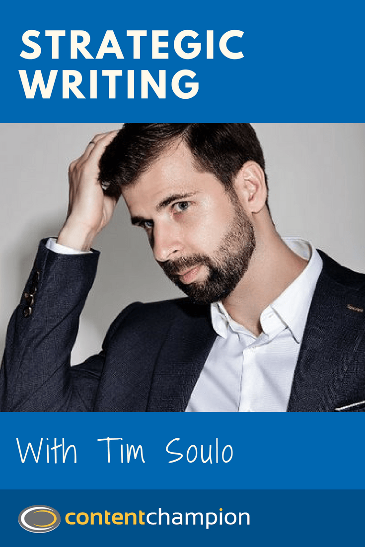 Tim Soulo strategic writing