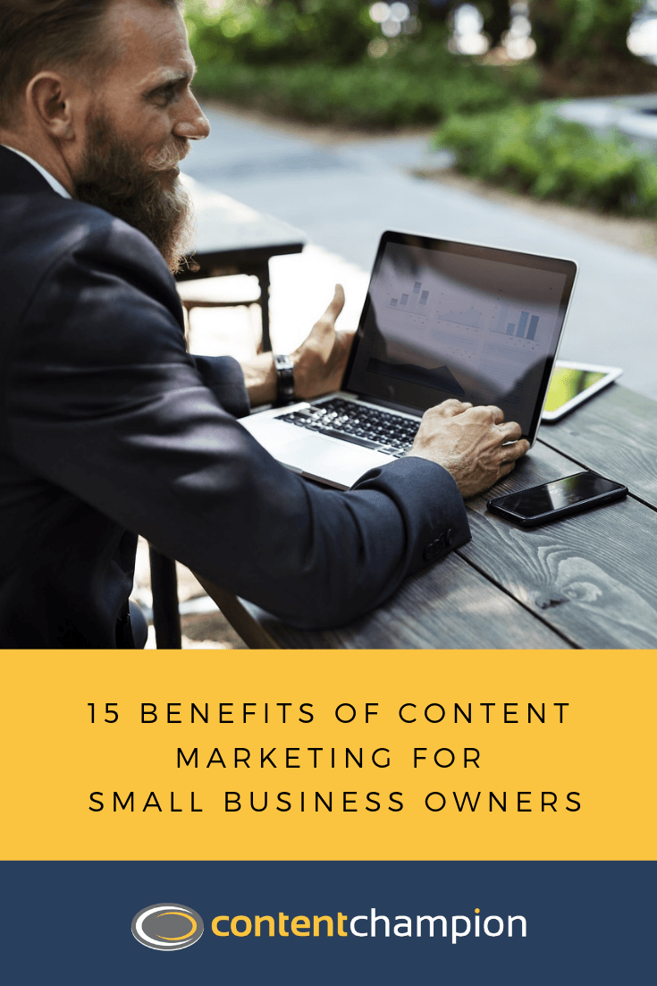 benefits of content marketing pin