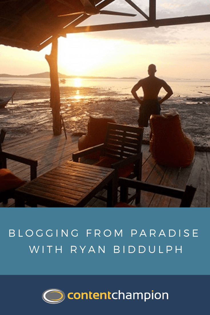 paradise blogging pin