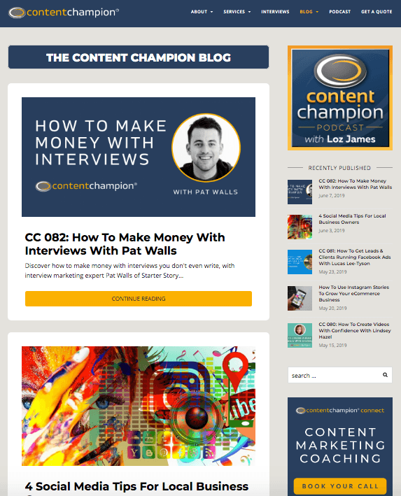 Advertise on Content Champion