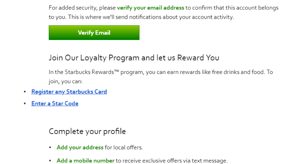 loyalty welcome email