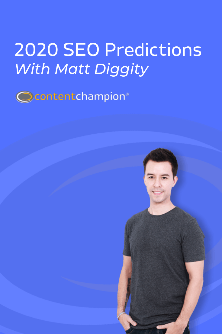 2020 SEO trends with Matt Diggity