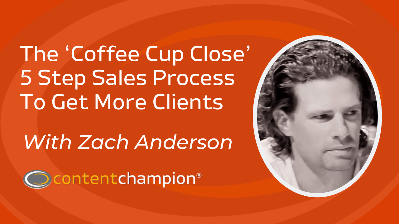 Zach Anderson how to make more sales