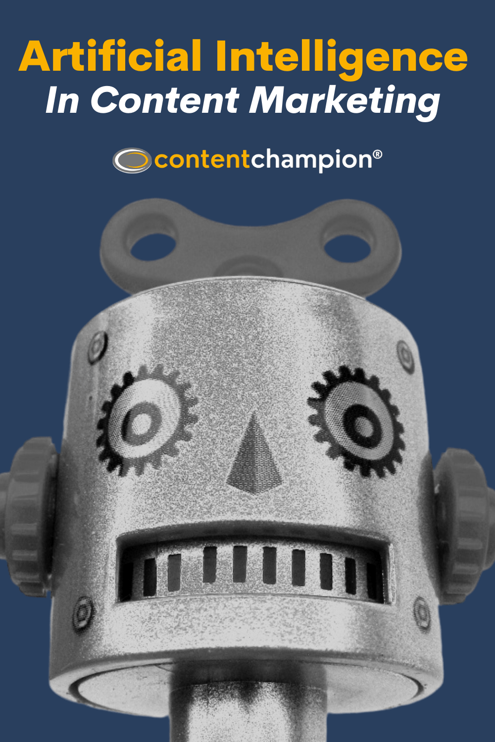 Artificial Intelligence In Content Marketing Pin