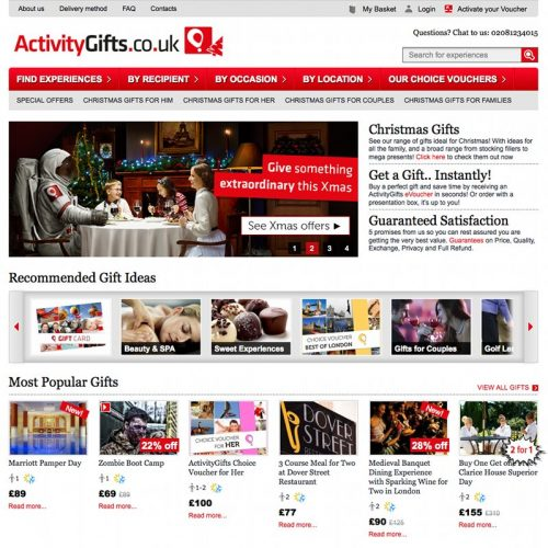 Activity Gifts